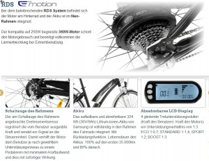 Stromrad Stuttgart - BH Emotion Neo Cross RDS Antriebssystem